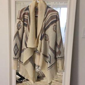 Roxy tribal thick sweater coat